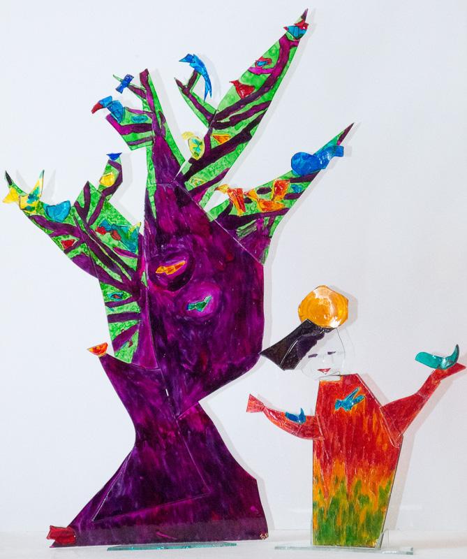 Glasobjekt Vogelpredigt